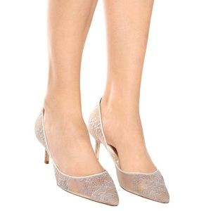 NWT Jimmy Choo ROMY 60 silver lace heels size 39